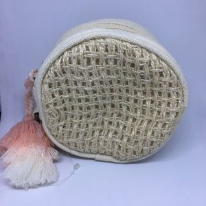 Free People Jute Woven Coin Purse